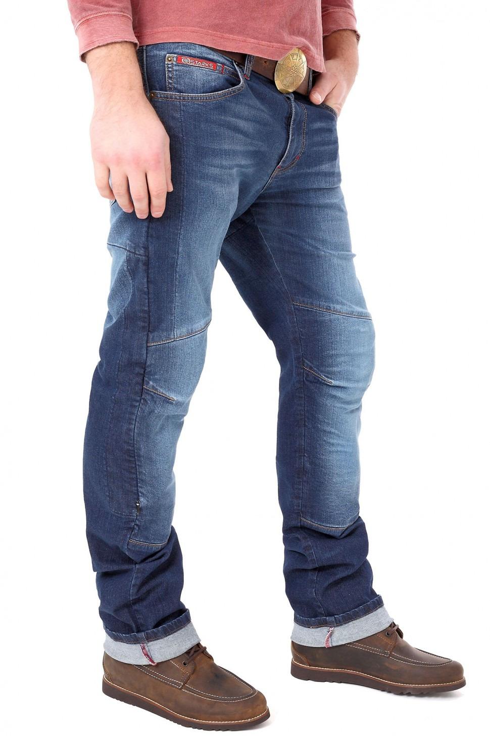 Мотобрюки мужские Starks Python Stretch, цвет: синий. Размер S
