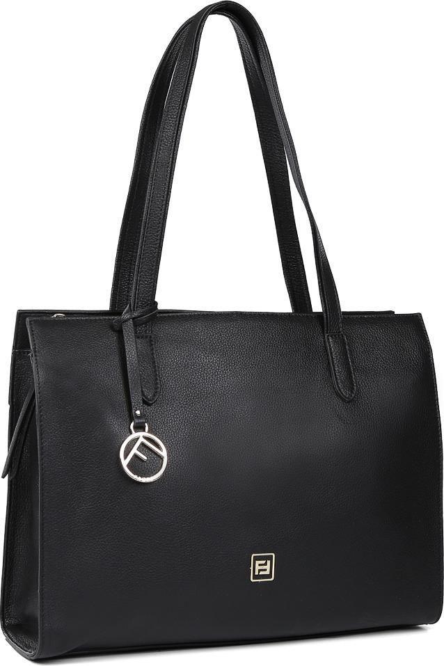 Сумка женская Fabretti, цвет: черный. 16283D16283D-018 blackМодель женской сумки-шоппер от итальянского бренда Fabretti создана для тех, кто стоит в стороне от переменчивой моды, предпочитая сдержанные классические и элегантные аксессуары. Высококачественная пористая кожа, классический черный цвет и дизайнерский брелок с логотипом бренда, - все это продемонстрирует окружающим ваше умение выбирать самые изысканные аксессуары. Аксессуар имеет одно вместительное отделение, которое закрывается на прочную молнию. Внутри сумки вы с легкостью расположите свой сотовый телефон и другие женские мелочи за счет удобных карманов. Изделие вмещает формат A4. На тыльной стороне модели дизайнеры разместили вместительный карман на молнии с поводком.