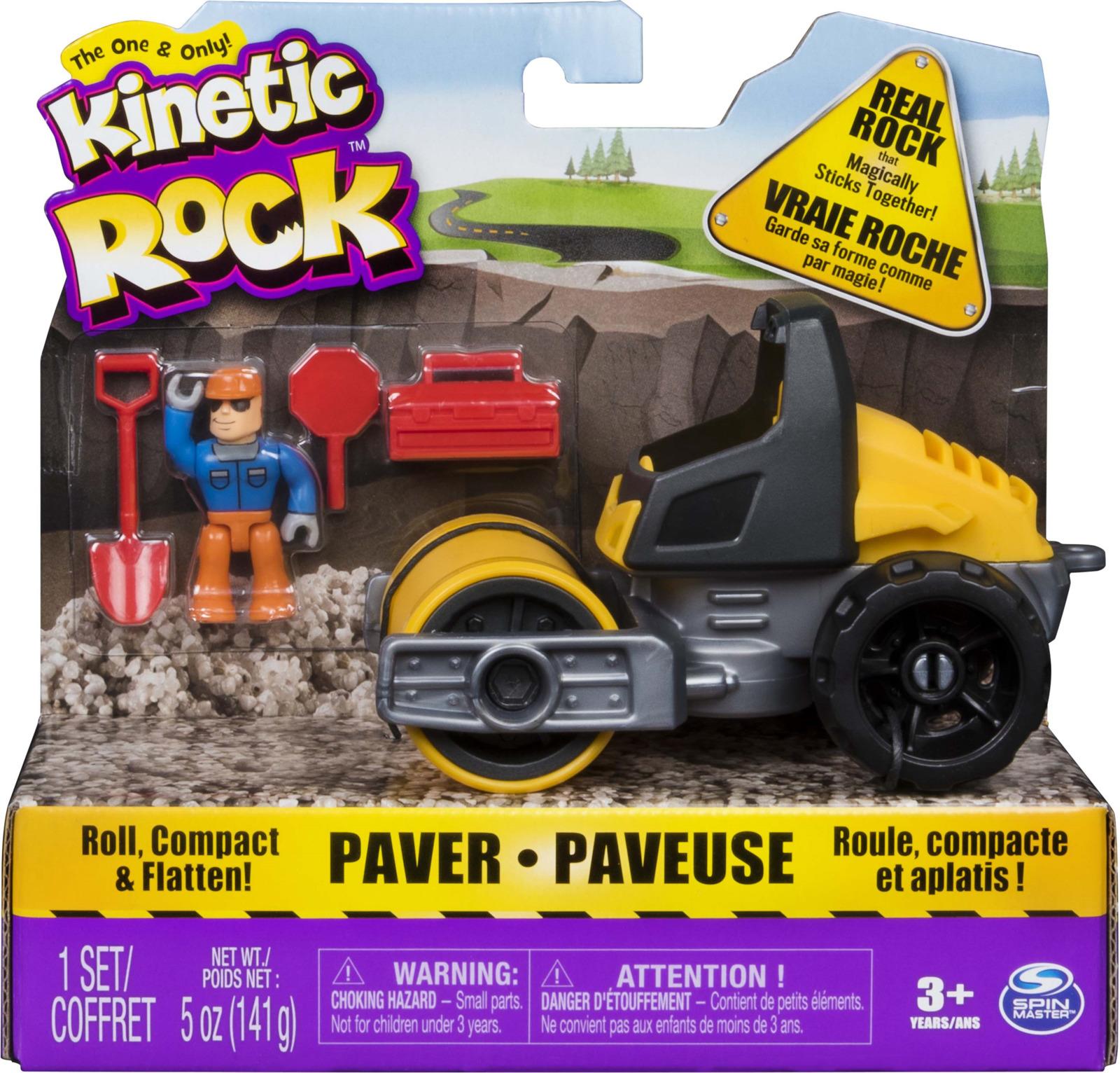 Kinetic Sand Песок для лепки Rock с машиной kinetic sand 71417 const кинетик сэнд игровой набор c формочками 285 г