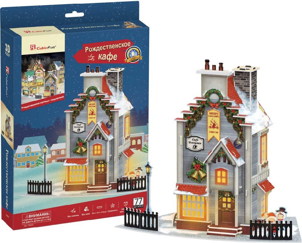 все цены на CubicFun 3D Пазл Рождественский коттедж 2 с подсветкой онлайн