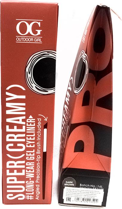 Подводка для глаз Outdoor Girl Long-Wear Gel Eyeliner, коричневая, 4 г