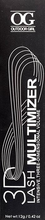 Тушь для ресниц Outdoor Girl Multimizer, черная, 12 г