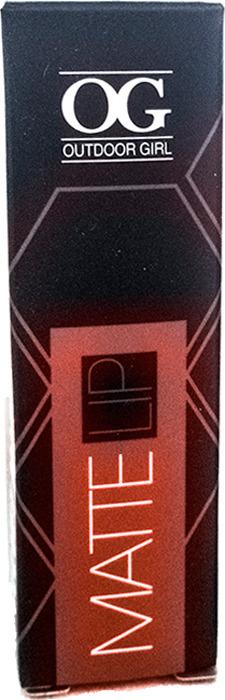 Губная помада Outdoor Girl Velvet Matte Lipstick, №302 красный бархат, 3,7 г губная помада outdoor girl velvet matte lipstick 304 богемный красный 3 7 г