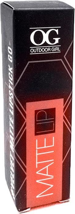 Губная помада Outdoor Girl Velvet Matte Lipstick, №304 богемный красный, 3,7 г губная помада outdoor girl velvet matte lipstick 304 богемный красный 3 7 г