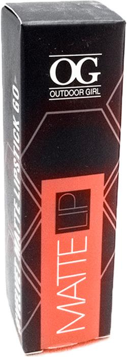 Губная помада Outdoor Girl Velvet Matte Lipstick, №305 красный рубин, 3,7 г губная помада outdoor girl velvet matte lipstick 304 богемный красный 3 7 г