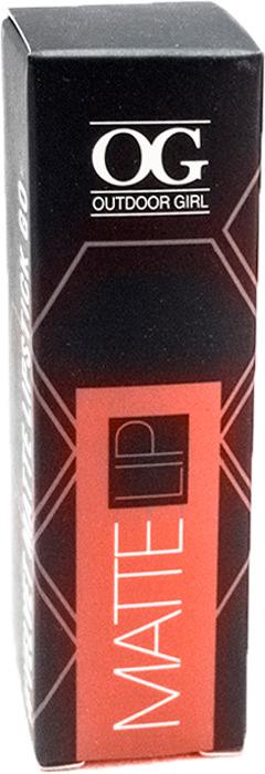 Губная помада Outdoor Girl Velvet Matte Lipstick, №322 стильный красный, 3,7 г губная помада outdoor girl velvet matte lipstick 304 богемный красный 3 7 г
