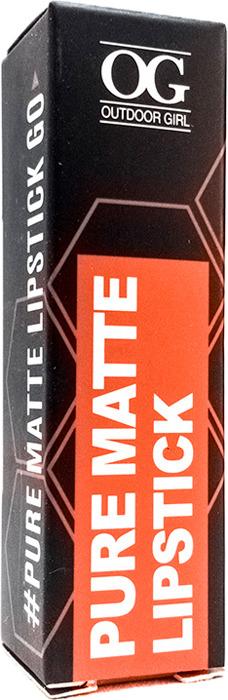 Губная помада Outdoor Girl Pure Matte Lipstick, №222 оранжево-красный, 3,6 г губная помада outdoor girl velvet matte lipstick 304 богемный красный 3 7 г