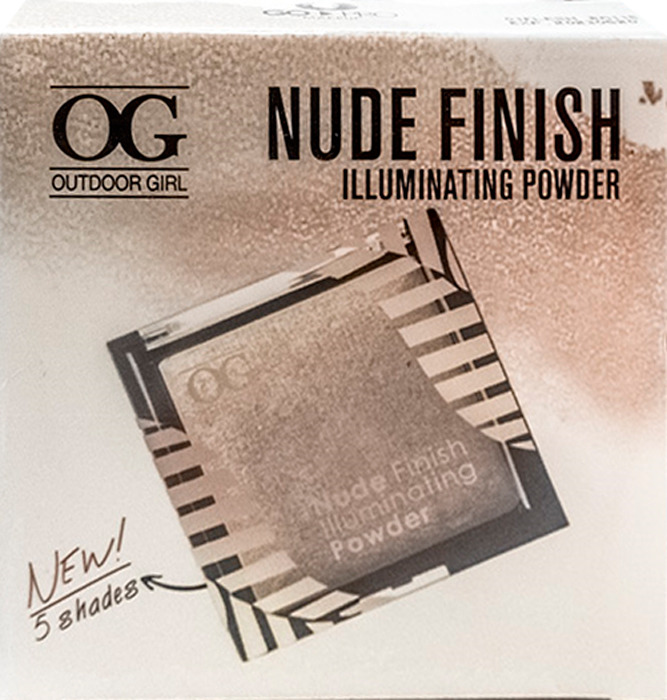 Хайлайтер Outdoor Girl Nude Finish Illuminate Powder, №04 сочно-телесный, 15 г