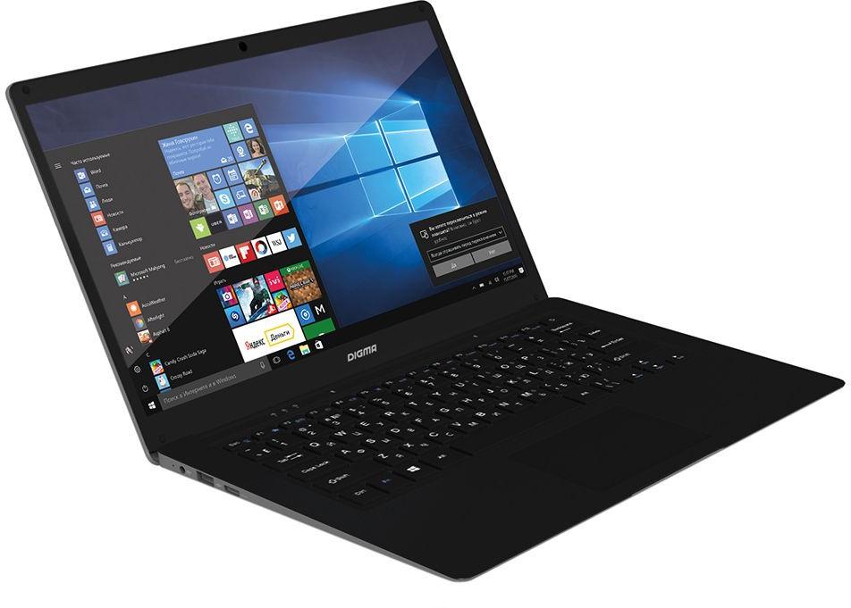 """Ноутбук Digma EVE 1402, ET4014EW, 14.1"""", серебристый, черный"""