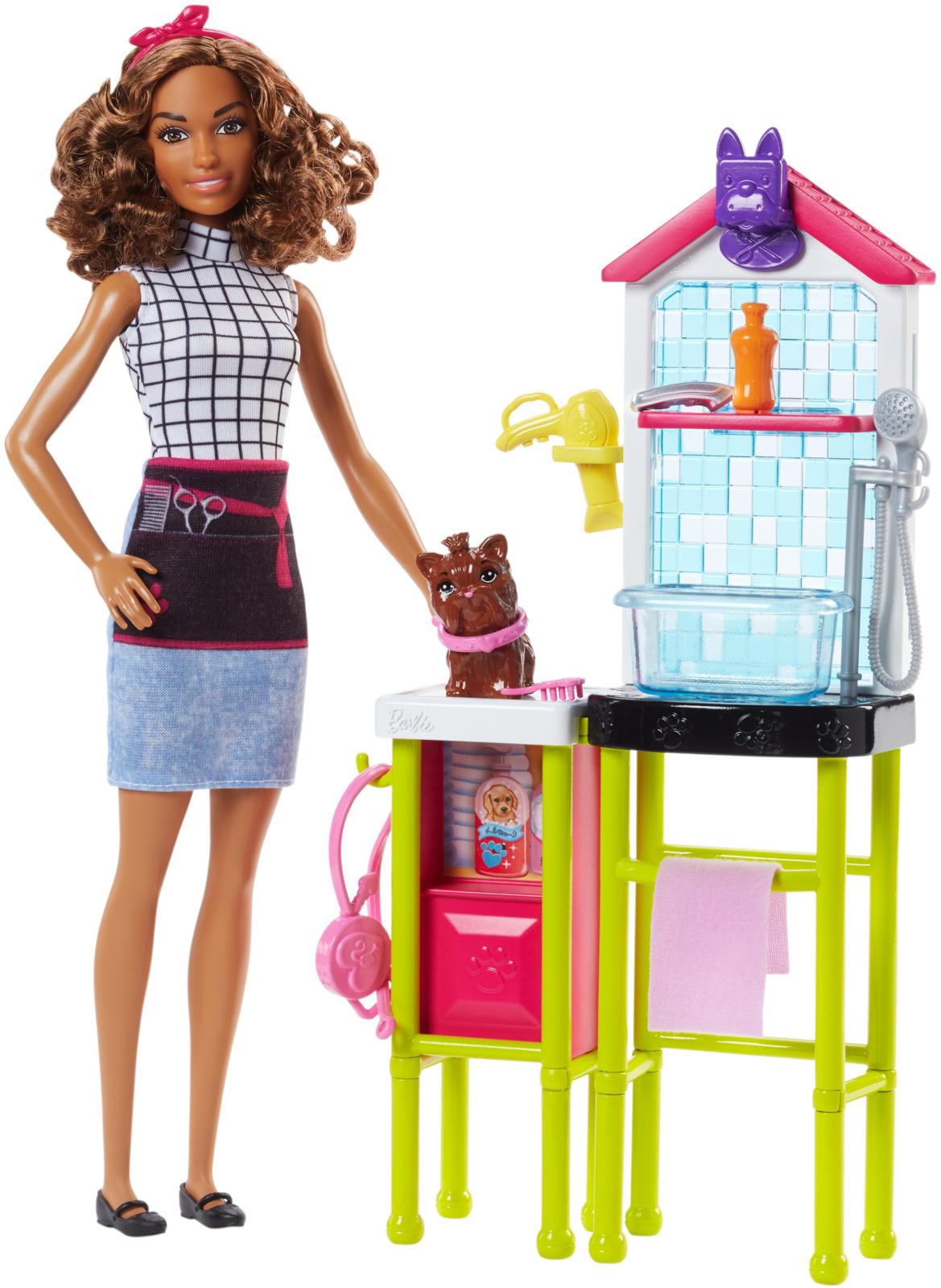 Barbie Игровой набор Парикмахеры для животных DHB63_FJB31 цена
