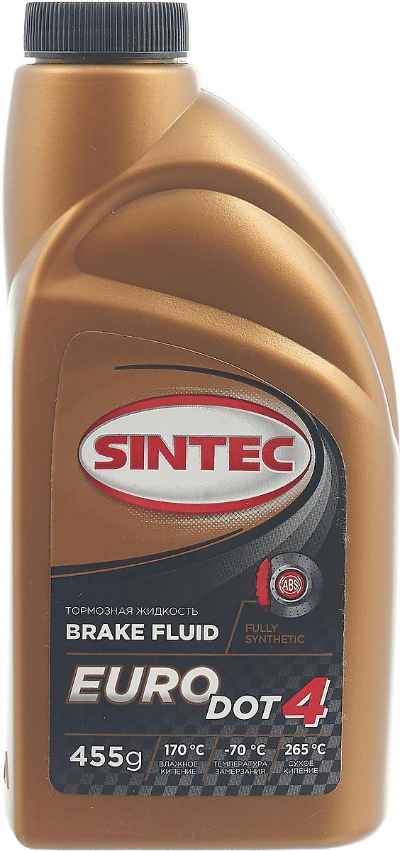 Жидкость тормозная Sintec EURO DOT-4, цвет: желтый, 455 г. 800772