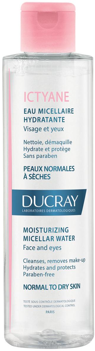 Ducray Увлажняющая мицеллярная вода Ictyane для лица и глаз, 200 мл вода ducray иктиан увлажняющая мицеллярная вода 400 мл