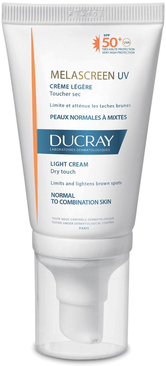 Ducray Меласкрин Крем легкий фотозащитный крем SPF 50+, 40 мл ducray легкий отбеливающий крем spf 15 меласкрин 40 мл