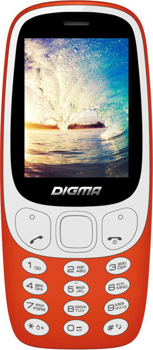 Мобильный телефон Digma Linx N331 2G, красный мобильный телефон digma linx a242 2g черный фиолетовый