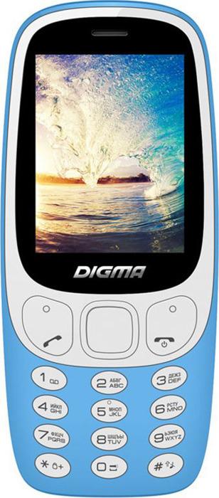 Мобильный телефон Digma Linx N331 2G, голубой телефон iphone 2g 16 gb цена