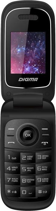 мобильный телефон digma a205 2g linx, черный