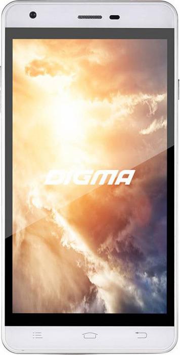 Смартфон Digma S501 1/8GB, белый смартфон digma s501 3g navitel vox красный