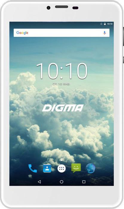 Планшет Digma Plane 7563N 4G, 16 ГБ, серебристый