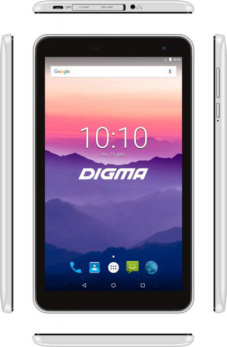 Планшет Digma Optima 7018N 4G, 16 ГБ, белый