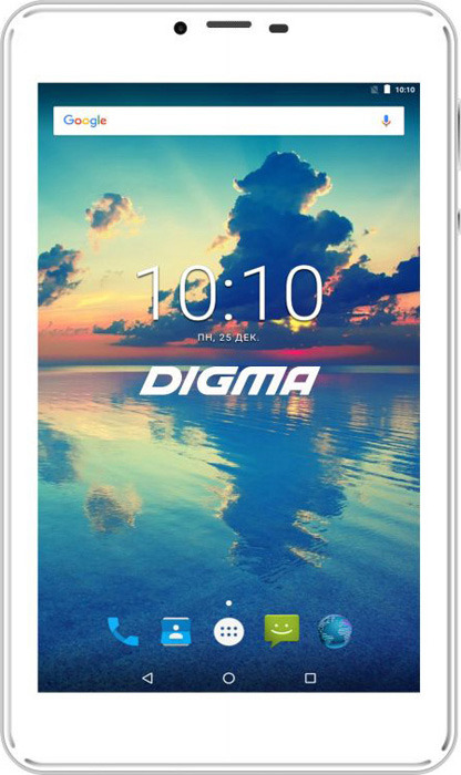 Планшет Digma Plane 7561N Wi-Fi + 3G 16 ГБ, серебристый glare free screen protector with cleaning cloth for iphone 3g