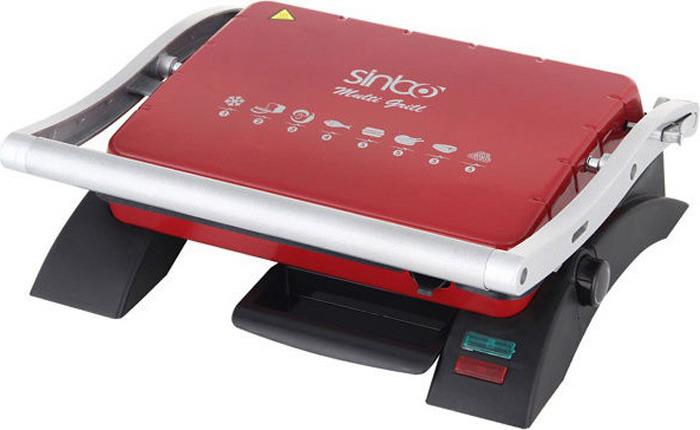 Электрогриль Sinbo SSM 2529, цвет: черный, красный электрогриль sinbo ssm 2536 черно красный