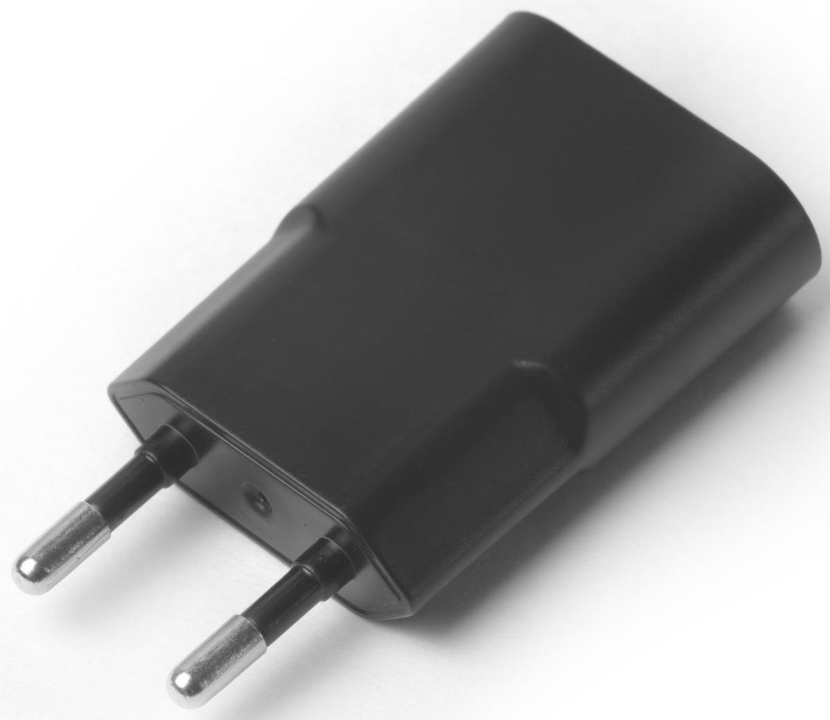 Сетевое зарядное устройство Greenconnect GCR-1P21AUSB-B на 1 А, цвет: черный