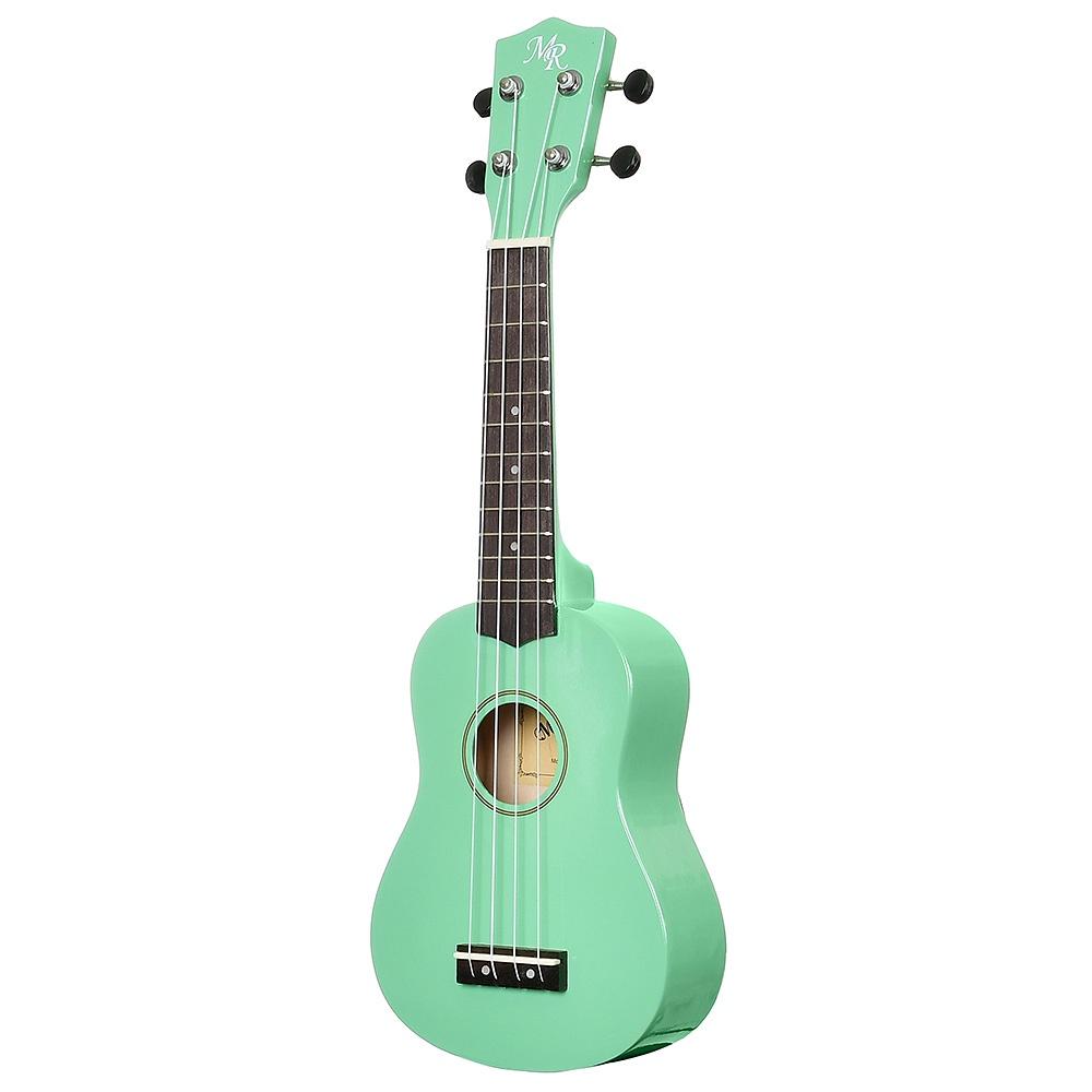 Укулеле сопрано Martin Romas, чехол в комплекте, цвет: зеленый, 21
