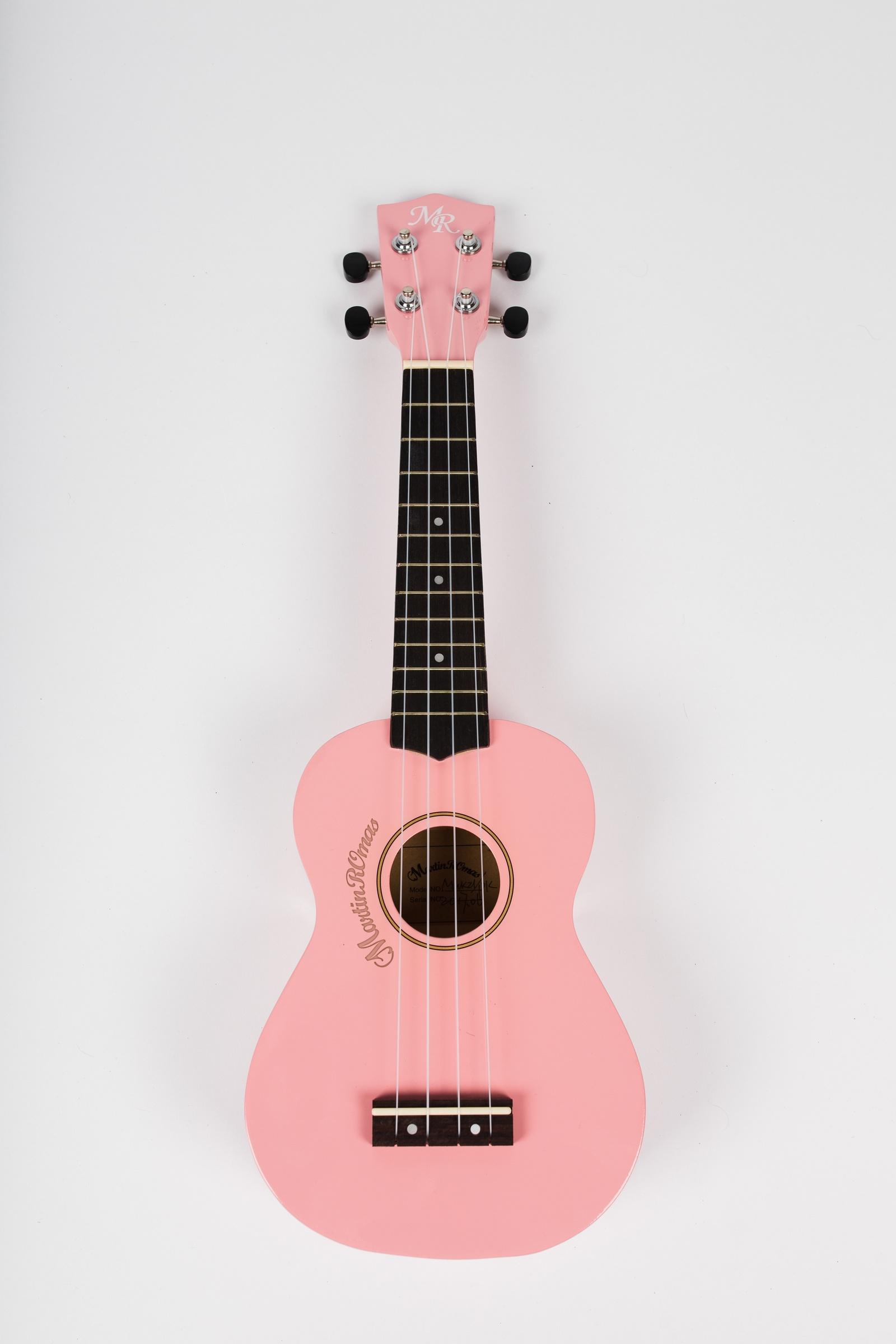 Укулеле сопрано Martin Romas, чехол в комплекте, цвет: розовый, 21