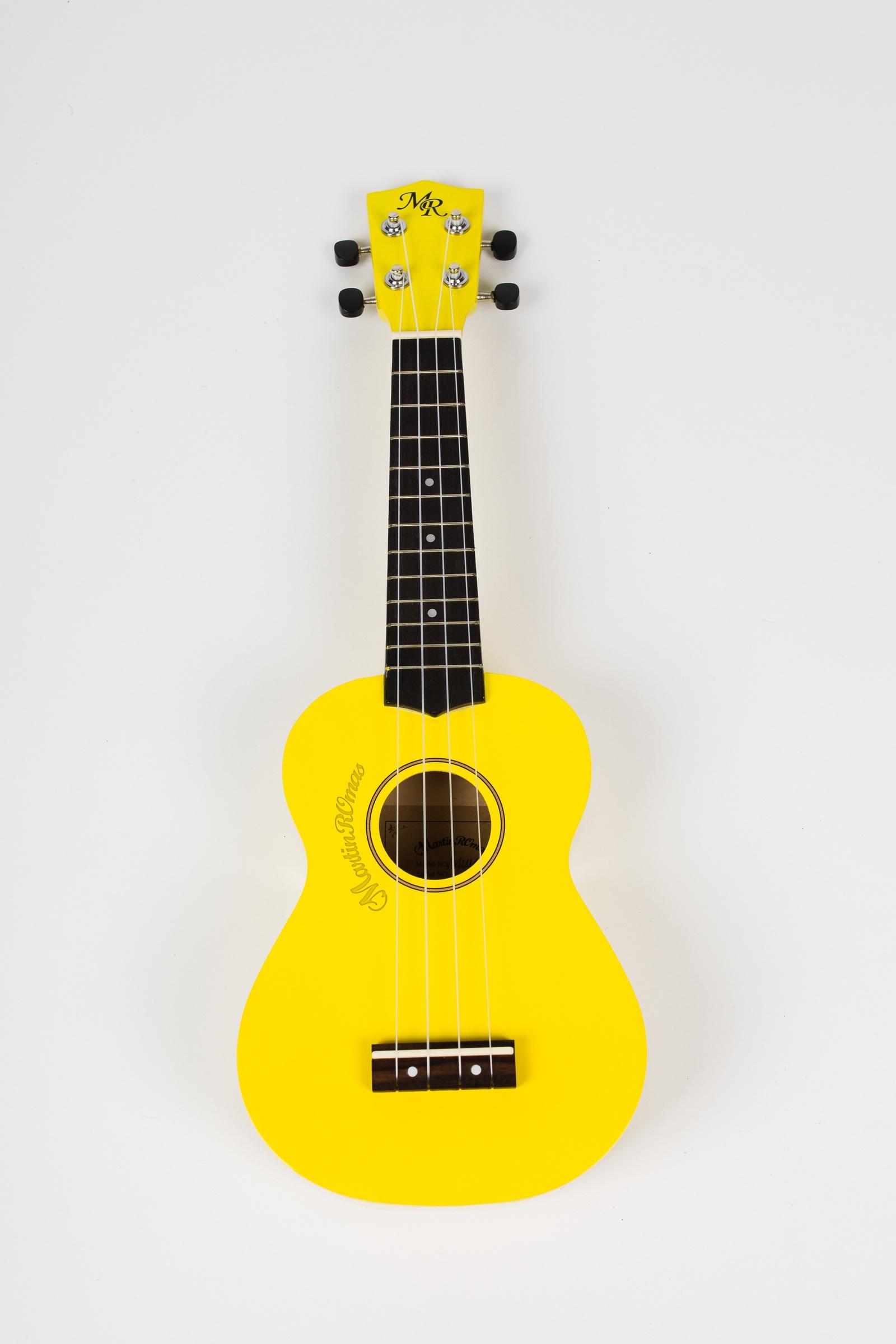 Укулеле сопрано Martin Romas, чехол в комплекте, цвет: желтый, 21