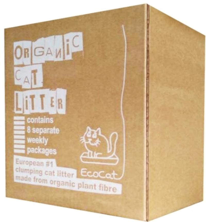 Eco cat. Древесный комкующийся наполнитель.Гранула 4 мм 8 кг