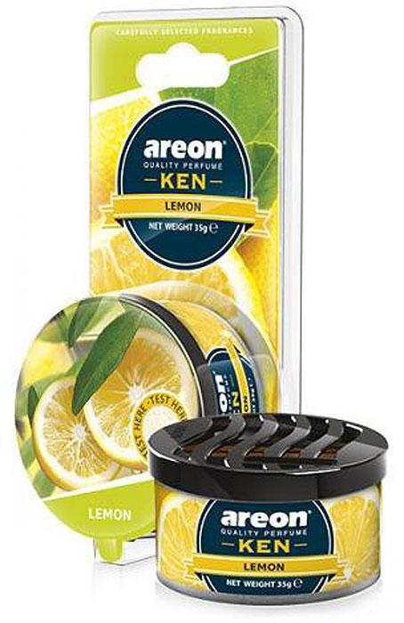 Автомобильный ароматизатор Areon Ken Blister Lemon ароматизатор автомобильный paloma happy bag lemon