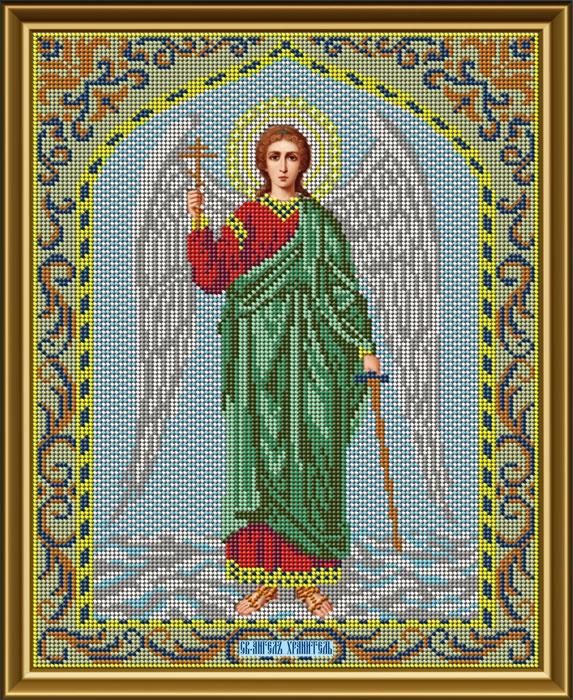 Набор для вышивания Galla Collection Набор для вышивания бисером «Икона Ангел Хранитель», 25 x 32 см, И030 все цены