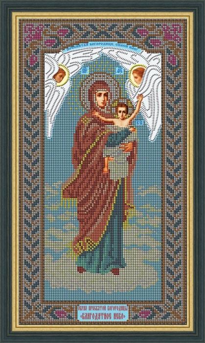 Набор для вышивания Galla Collection бисером «Икона Божией Матери Благодатное небо», 20 x 36 см икона юлия бисер