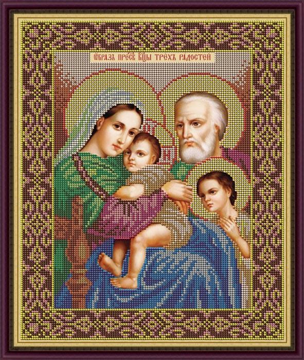 Набор для вышивания Galla Collection Набор для вышивания бисером «Икона Богородицы Трёх Радостей», 25 x 31 см, И046 все цены