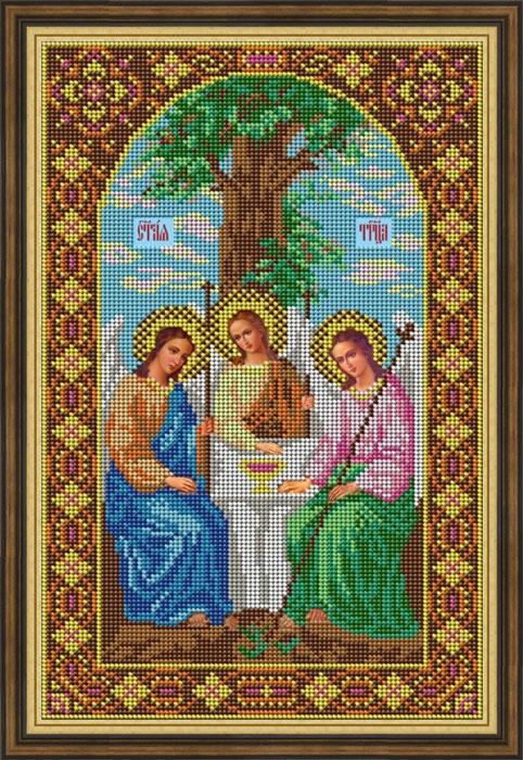 Набор для вышивания Galla Collection бисером «Икона Святая Троица», 21 х 32 см набор для вышивания galla collection бисером икона святой архангел михаил 18 х 22 см