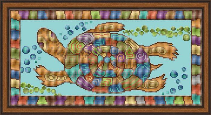 Набор для вышивания Galla Collection бисером «Черепаха», 35х18 см светлица набор для вышивания бисером архангел михаил бисер чехия 1042701