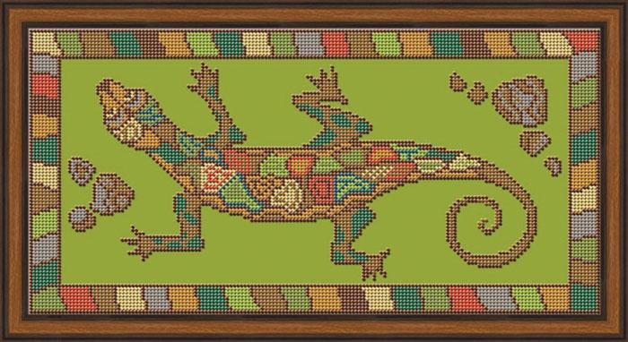 Набор для вышивания Galla Collection бисером «Ящерица», 35х18 см светлица набор для вышивания бисером архангел михаил бисер чехия 1042701