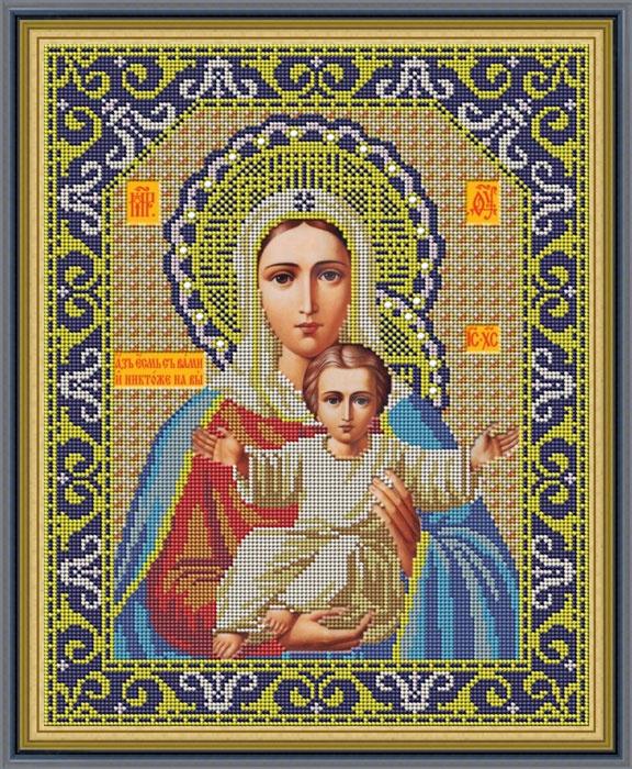 Набор для вышивания Galla Collection Набор для вышивания бисером «Икона Божией Матери Леушинская», 29 x 35 см все цены