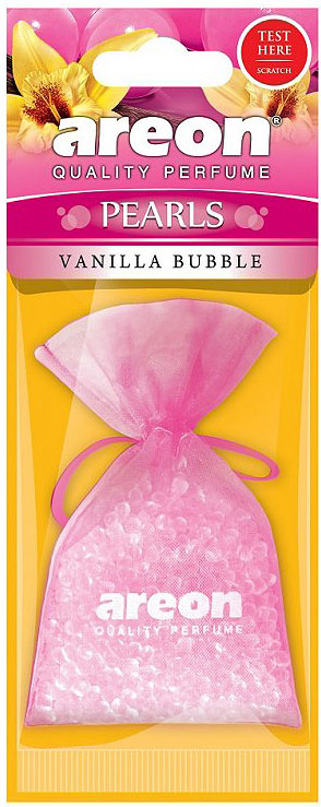 Автомобильный ароматизатор Areon Pearls Vanilla Bubble автомобильный ароматизатор areon pearls bubble gum