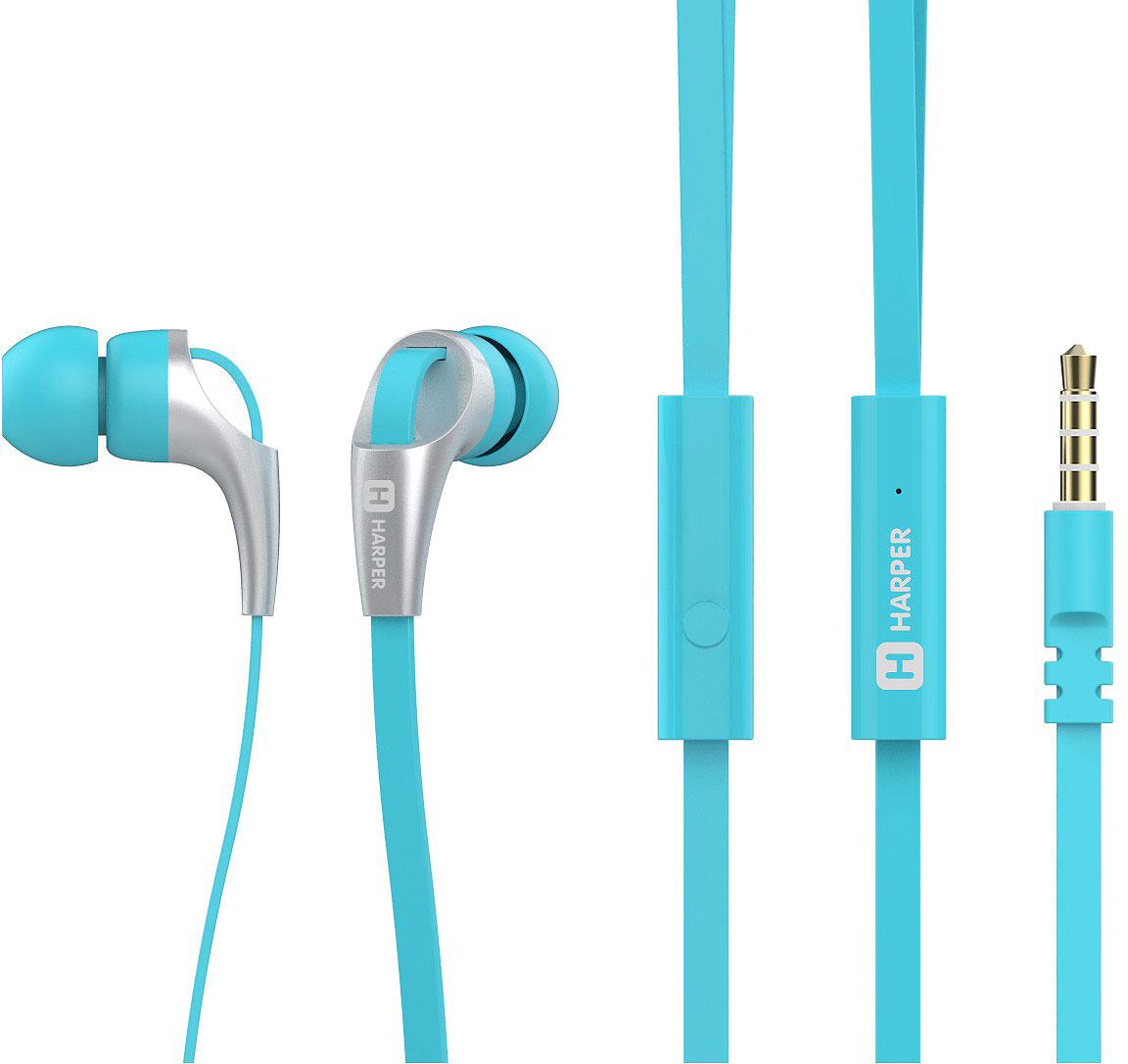 Наушники Harper HV-404, Blue наушники harper hv 404 green