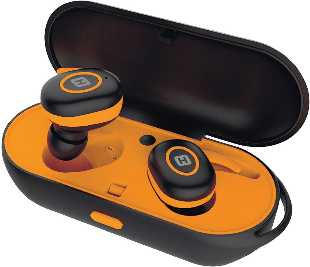 Беспроводные наушники Harper HB-510, оранжевый, черный