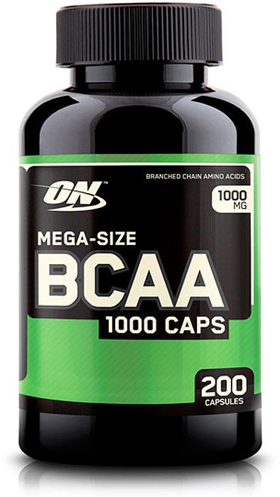 Аминокислоты Optimum Nutrition BCAA 1000, 200 капсул цена
