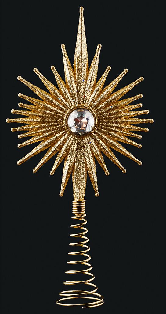 Макушка для елки Erich Krause Decor Сияние, цвет: золотой, 20 см макушка звезда 25 см