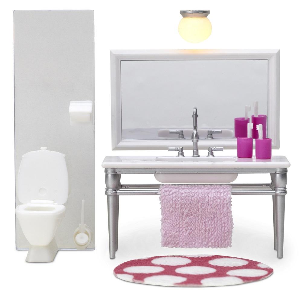 Кукольная мебель Lundby Смоланд. Ванна с раковиной, LB_60208700 кукольная мебель lundby смоланд детская кровать чердак lb 60208400