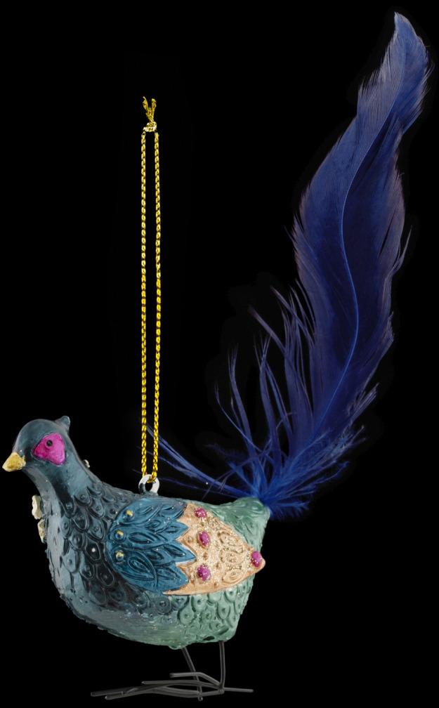 Игрушка елочная Erich Krause Decor Павлин султана, 13 см erich krause украшение на ёлку erichkrause царь ёлки 19 см