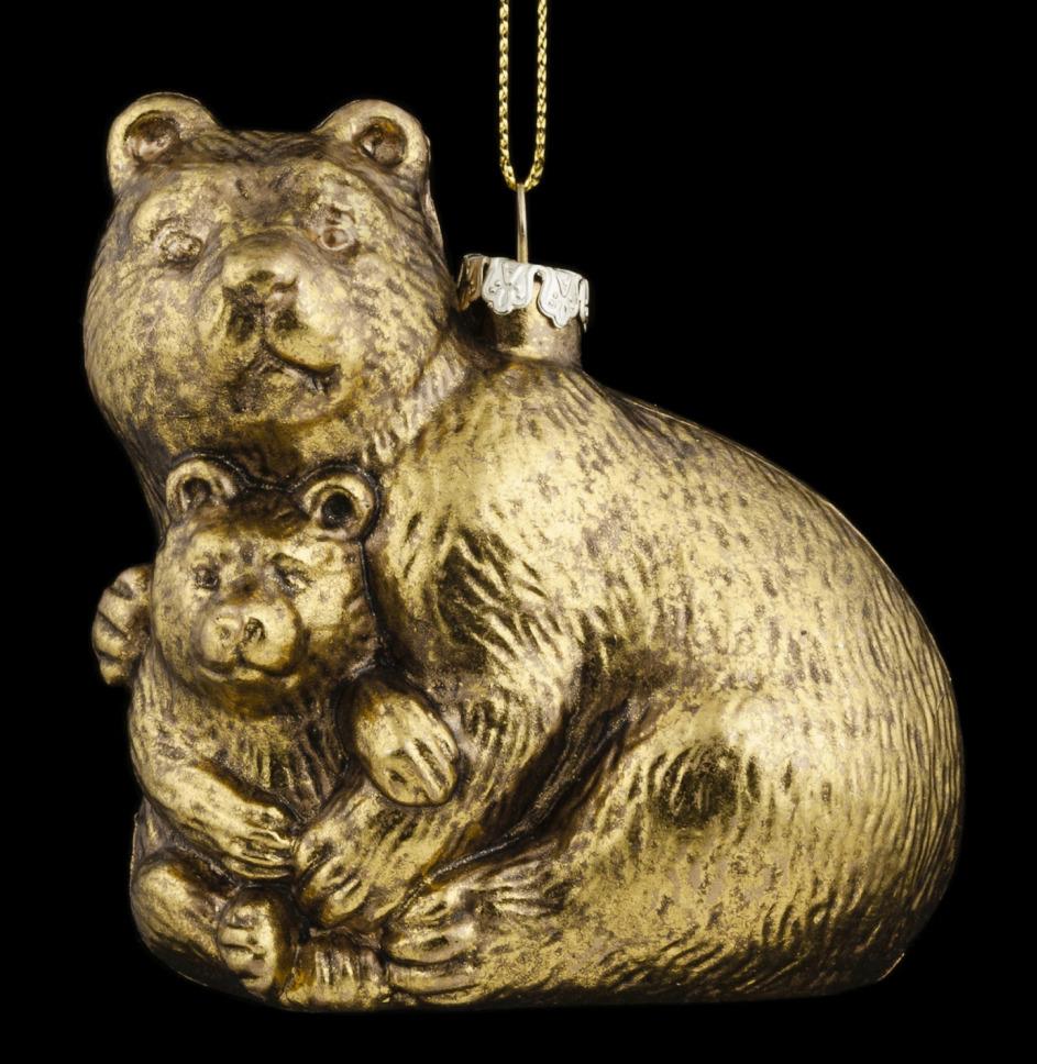 Игрушка елочная Erich Krause Decor Медведица, 9 см erich krause украшение на ёлку erichkrause царь ёлки 19 см