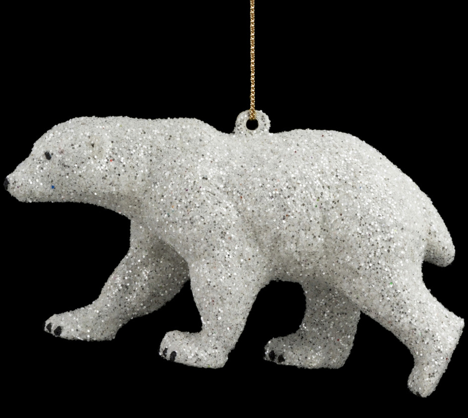 Игрушка елочная Erich Krause Decor Полярный медведь, 11,5 см erich krause украшение на ёлку erichkrause царь ёлки 19 см