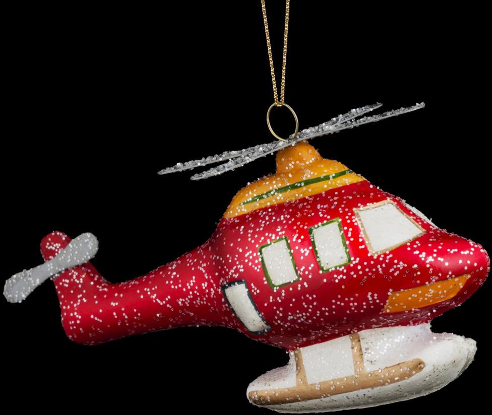 Игрушка елочная Erich Krause Decor Вертолет, 15 см украшение елочное шар красный с блестками 13 см красный полимерный материал