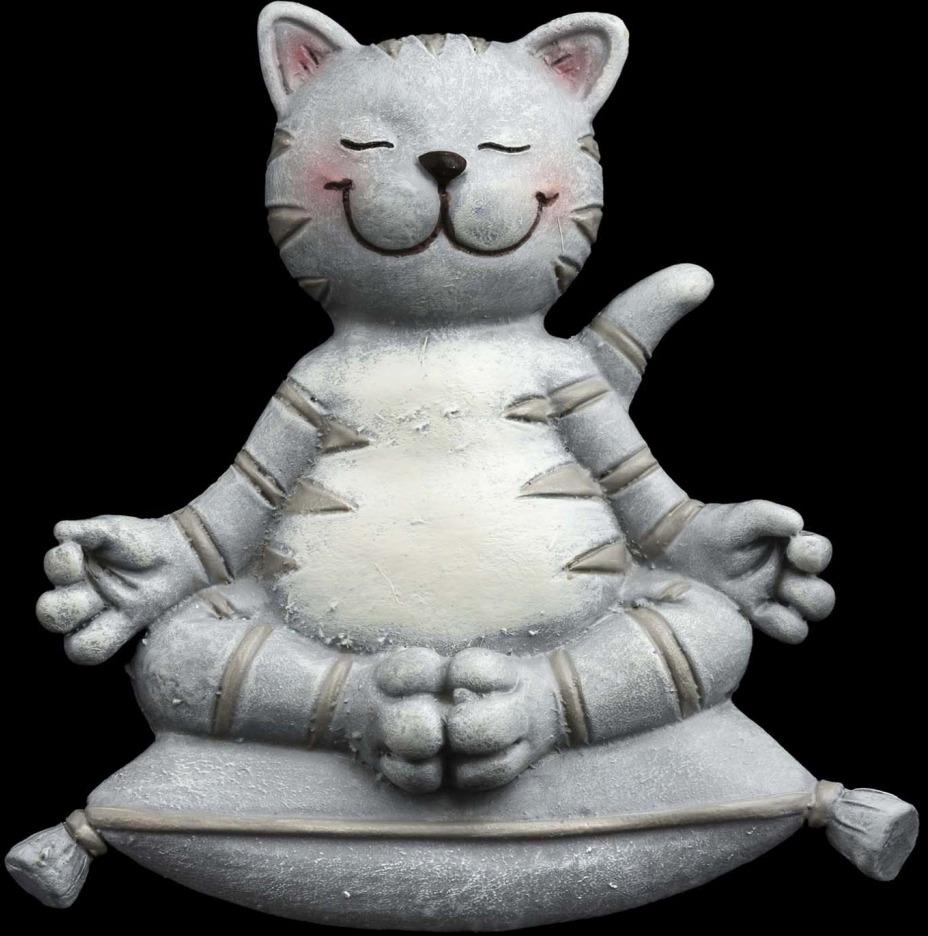 Украшение для интерьера Erich Krause Decor Йога-кот на магните, 7 см erich krause украшение на ёлку erichkrause царь ёлки 19 см