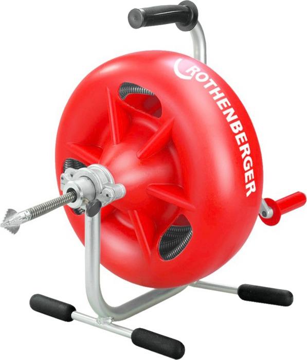 Устройство для прочистки труб Rothenberger 3S, цвет: красный вантуз насосного типа rothenberger ropump 71991